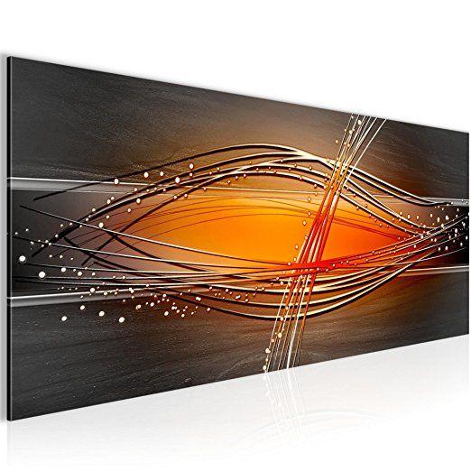 Bilder Abstrakt Wandbild 100 x 40 cm Vlies - Leinwand Bild XXL - wohnzimmer bilder abstrakt
