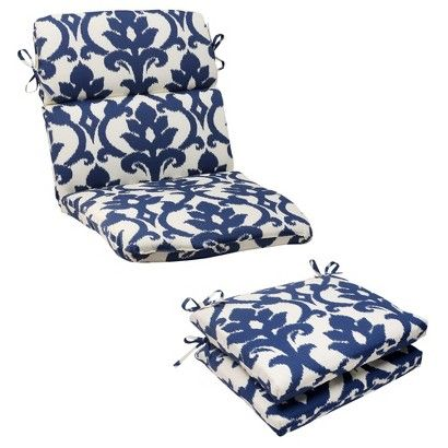 High Quality Outdoor Cushion U0026 Pillow Collection   Blue/White Damask