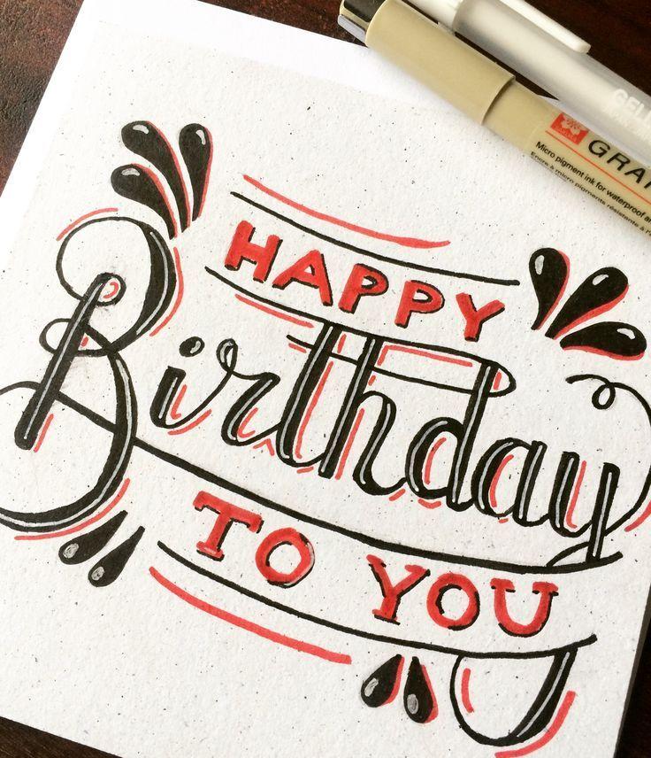 Alles Gute zum Geburtstag! Diese und andere handbeschriftete Karten können von