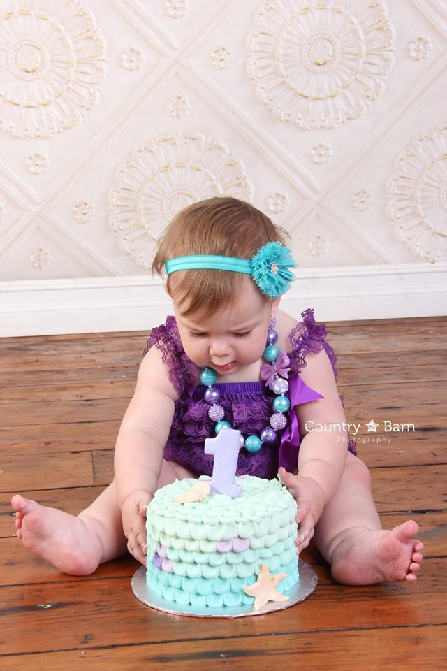 Peachy Mermaid Cake Smash Cake First Birthday Cake Girly Cake Funny Birthday Cards Online Elaedamsfinfo