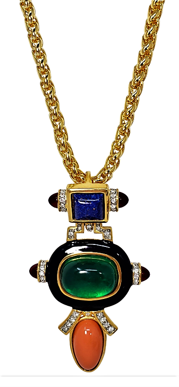 Kenneth Jay Lane PAVE anillo de cristal oro Kjl