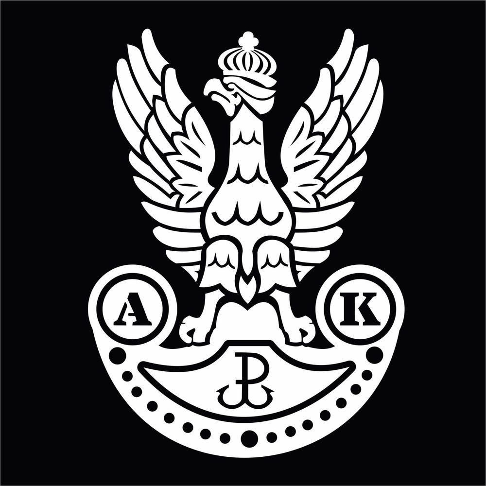 White Polish Underground Home Army Wwii Eagle Symbol Vinyl Decal