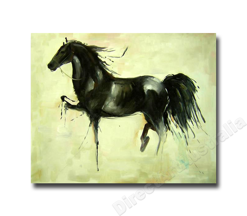 Mustang Two Horse Oil Painting Large Oil Painting Modern Canvas Art