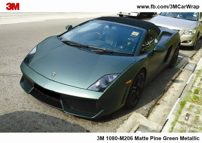 Lamborghini Gallardo Spyder Wrapped With 3m 1080 M206 Matte Pine