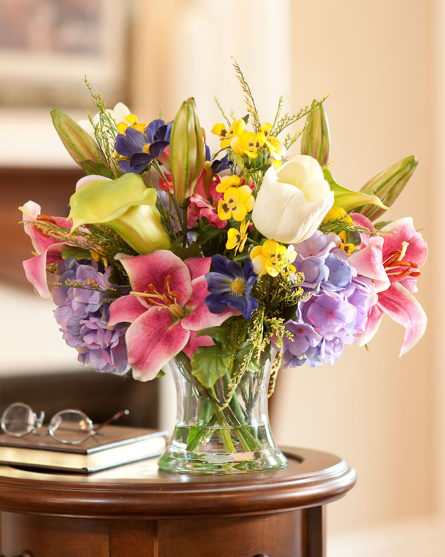 Distinctive Glorious Garden Silk Flower Centerpiece At Petals: Fake Floral Arrangements For Your Table Centerpiece