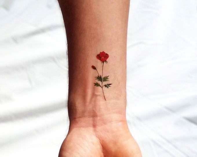 Realistic Flower tattoos Delicate Watercolor Flower tattoos | Etsy