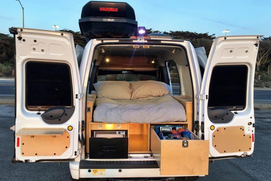 2013 Ford Transit Connect Xlt Motor Home Camper Van Rental In San