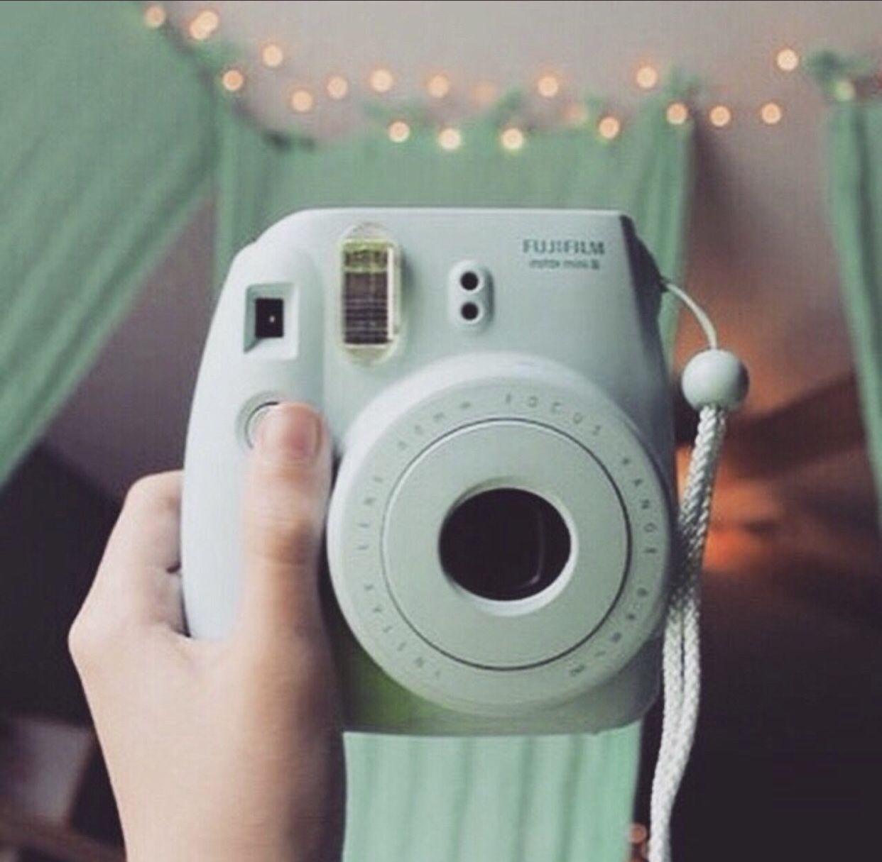 Green Polaroid Camera Aesthetic