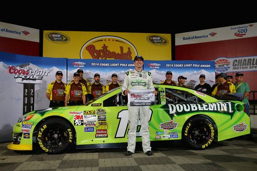 Kyle Busch will start from the pole at Charlotte breaking the track record