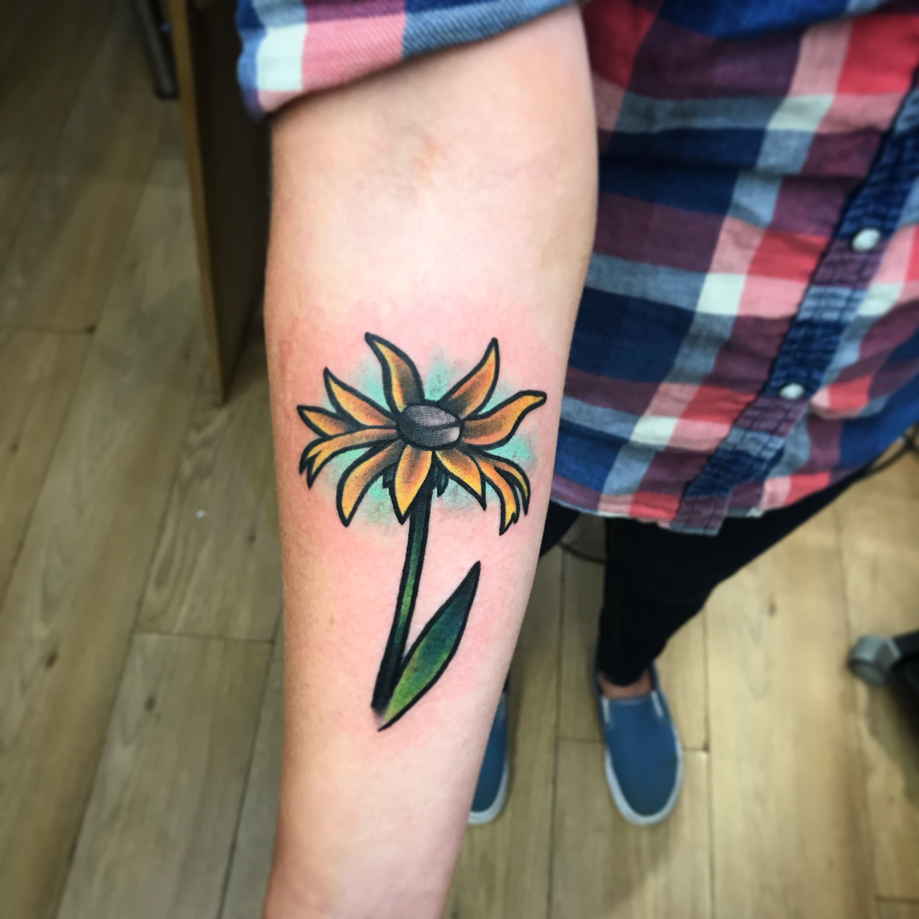 Sunflower By Fifth Dimension Tattoo & Piercing, London