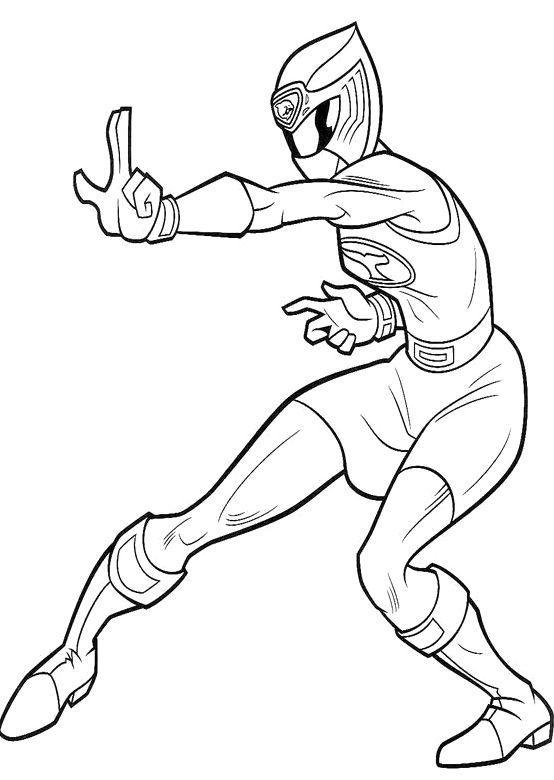 Ranger Blue ninja Storm Coloring Pages | Tori | Power ...