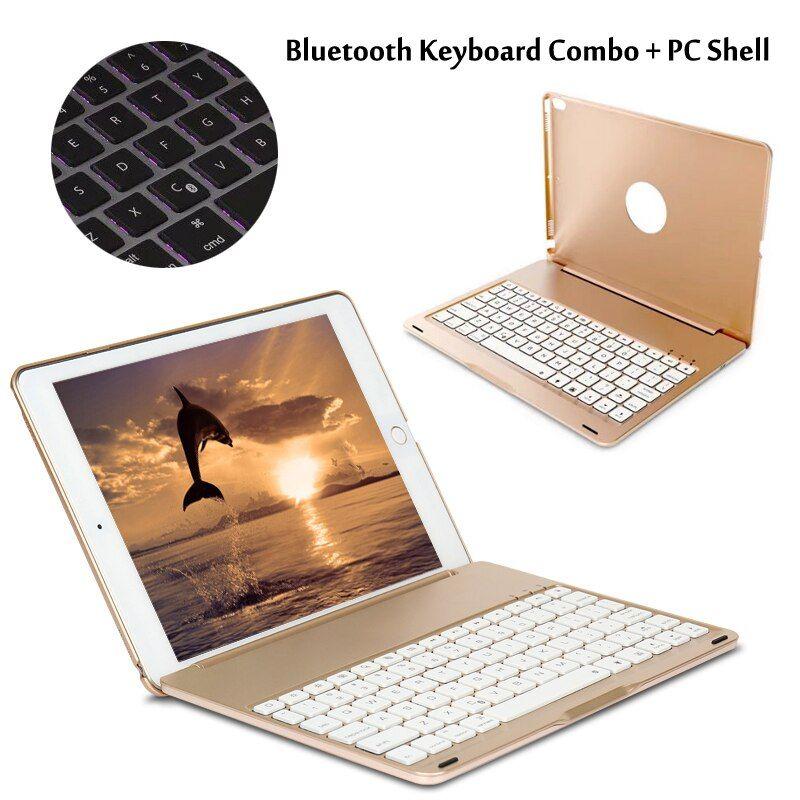 7 colors backlit light wireless bluetooth keyboard case