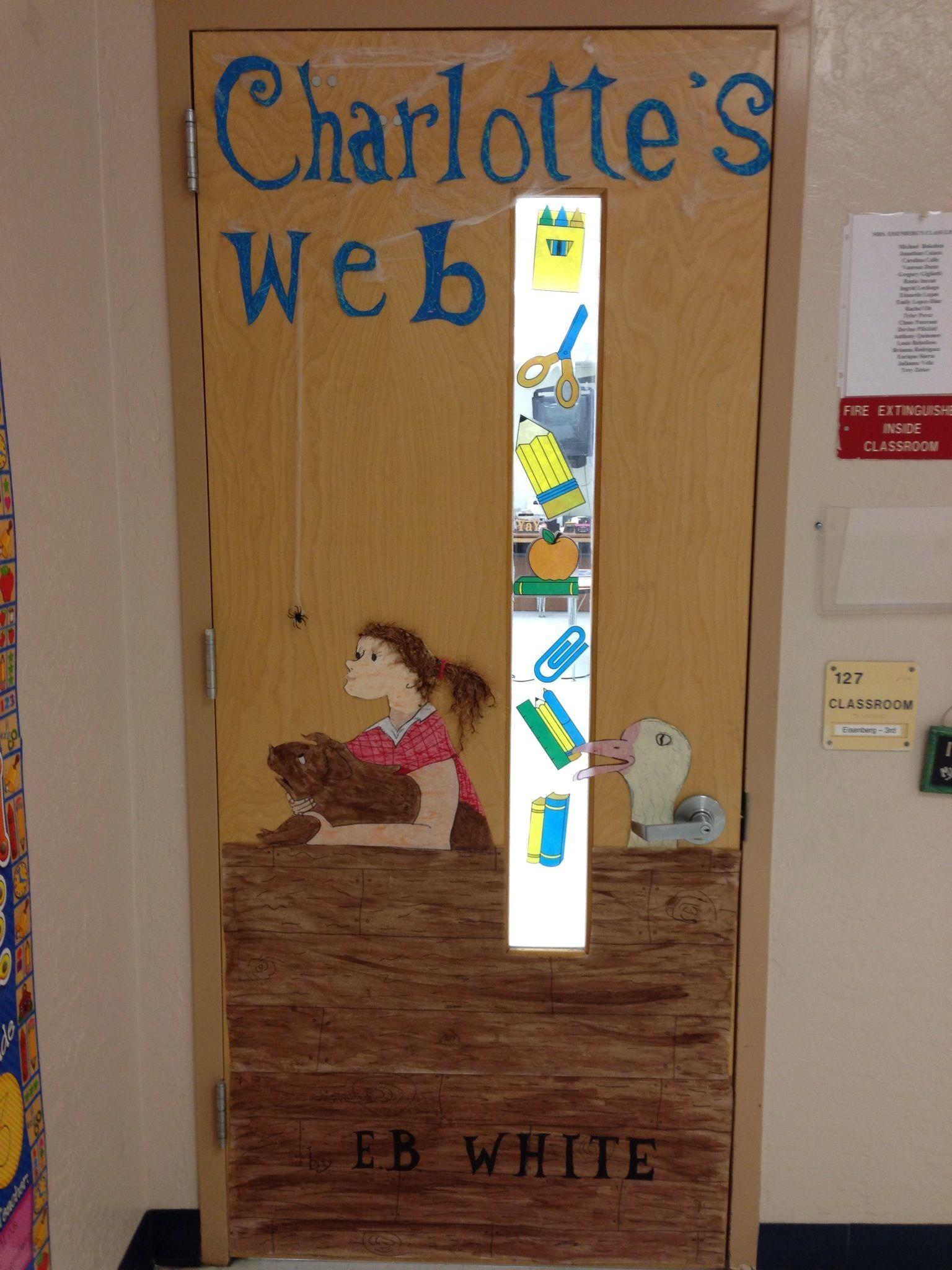 Classroom Craft Ideas : Teacher classroom door book craft decoration charlottes s
