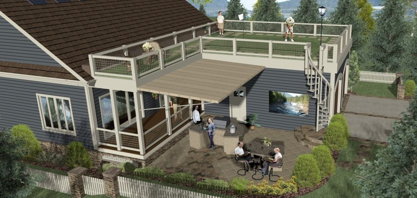 Best Garage Roof Design Ever Look Closely It S A Putting Green Why Yes Honey I Will Work On Th Craftsman Style House Plans Dream House Plans House Plans