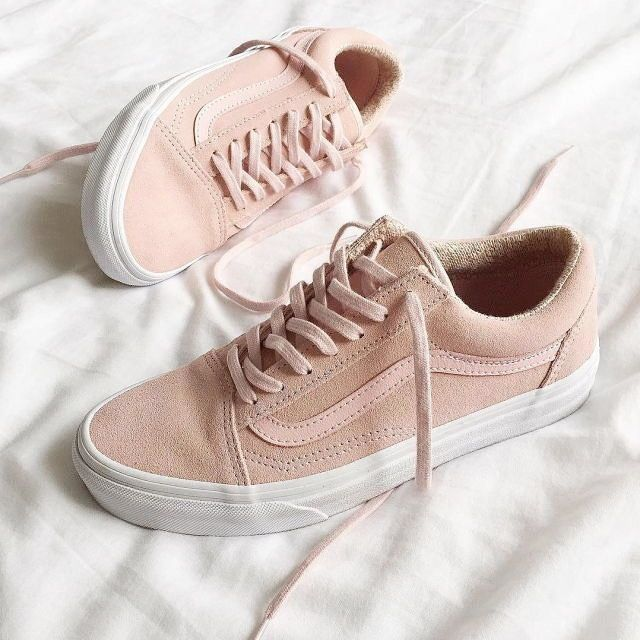 basket vans rose