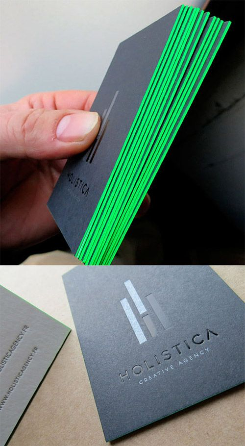 A collection of attention grabbing neon business cards reheart Gallery
