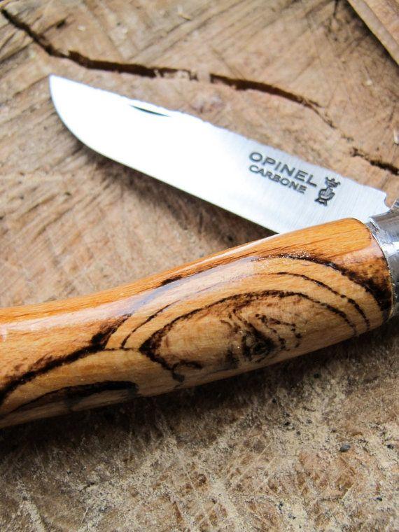 Wood Spirit Pocket Knife Opinel No.7 от NewMoonBushcraft на Etsy