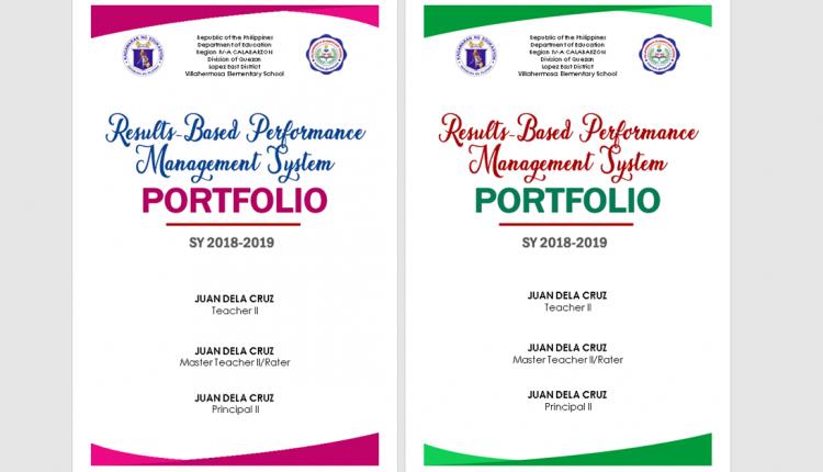 Rpms Portfolio Page Cover Editable Word Format Deped Tambayan Portfolio Cover Design Teacher Portfolio Teaching Portfolio