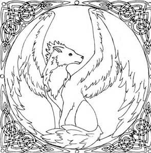 Wing Wolf Coloring Coloring Pages Wolf Colors Fox Coloring Page