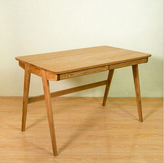 Japanese office workers desk furniture minimalist modern oak desk