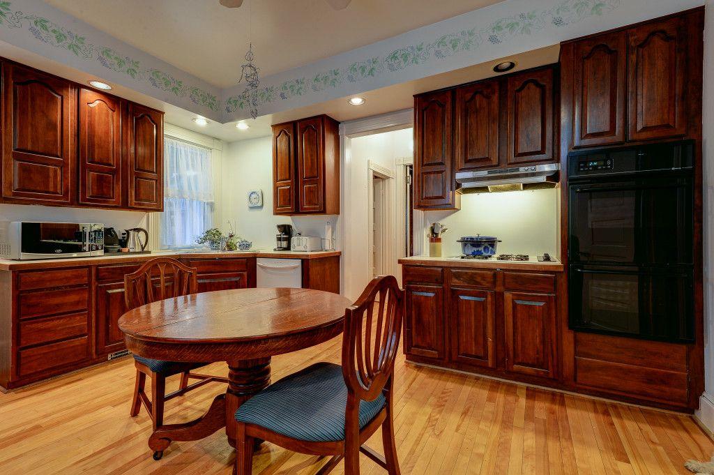 Dark wood kitchen hardwood floors in kitchen