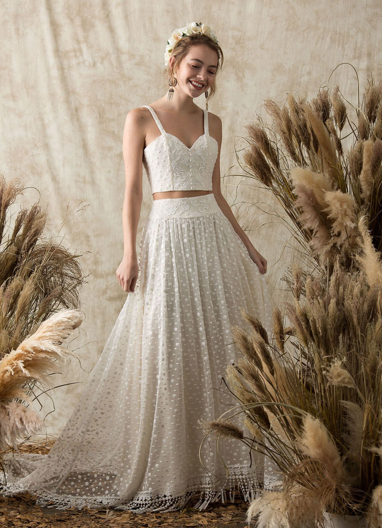 Gowns for the laidback bride the etheria collection from dreamers