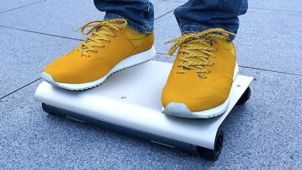 Funny little thing Kuniako Saito's WalkCar can travel up to 10 kms per hour.
