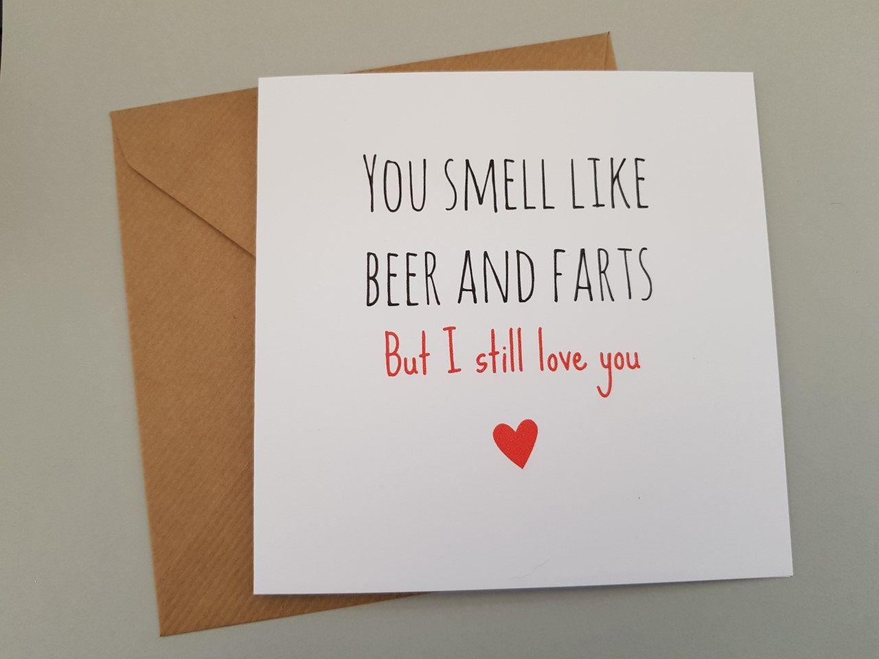 Funny Rude Cheeky Humorous Anniversary Birthday Card Joke for Wife