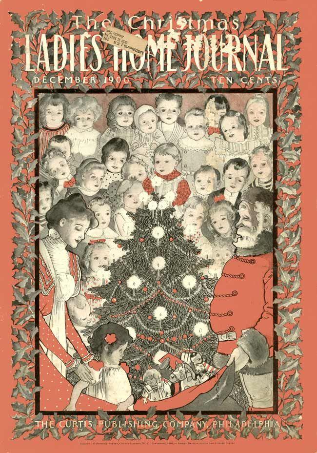 Ladies home journal gilded age christmas santa december c1900 ladies home journal gilded age christmas santa december c1900 le monde de lenfance illustr pinterest gilded age christmas cover and journal m4hsunfo