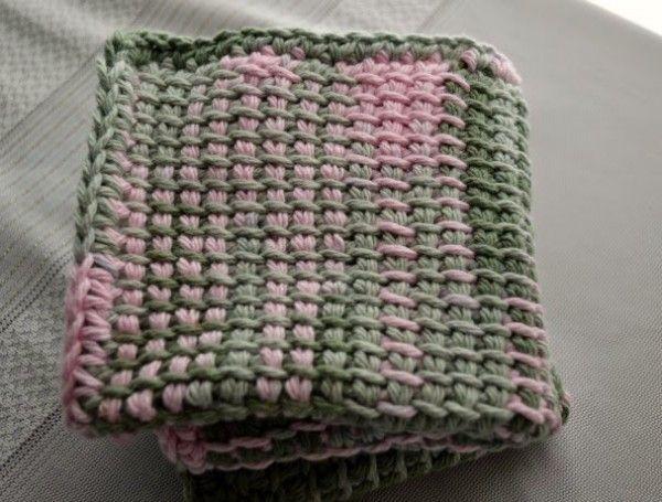 tunisian crochet washcloth pattern | Tunesian crochet free Patterns ...