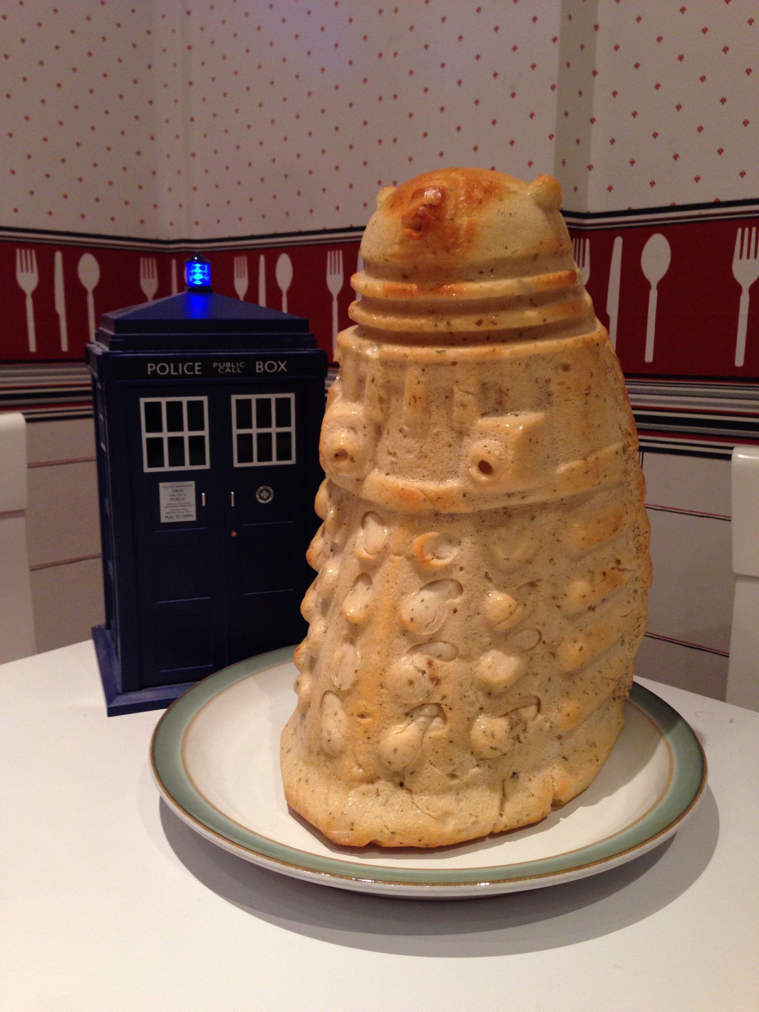 Garlic Dalek bread I just made... The recipe can be found