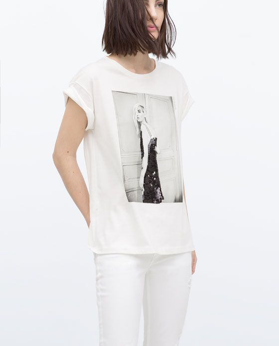 ZARA - WOMAN - T-SHIRT WITH PHOTO PRINT