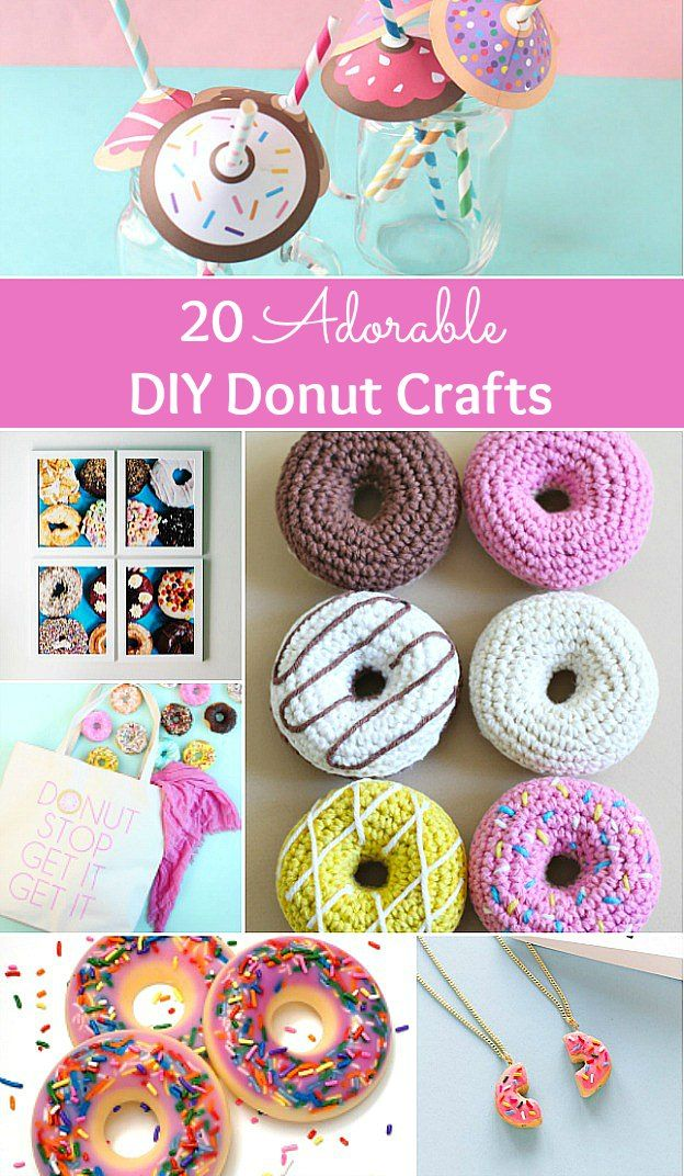 20 Adorable DIY Donut Crafts Crafts, Donut craft, Diy crafts