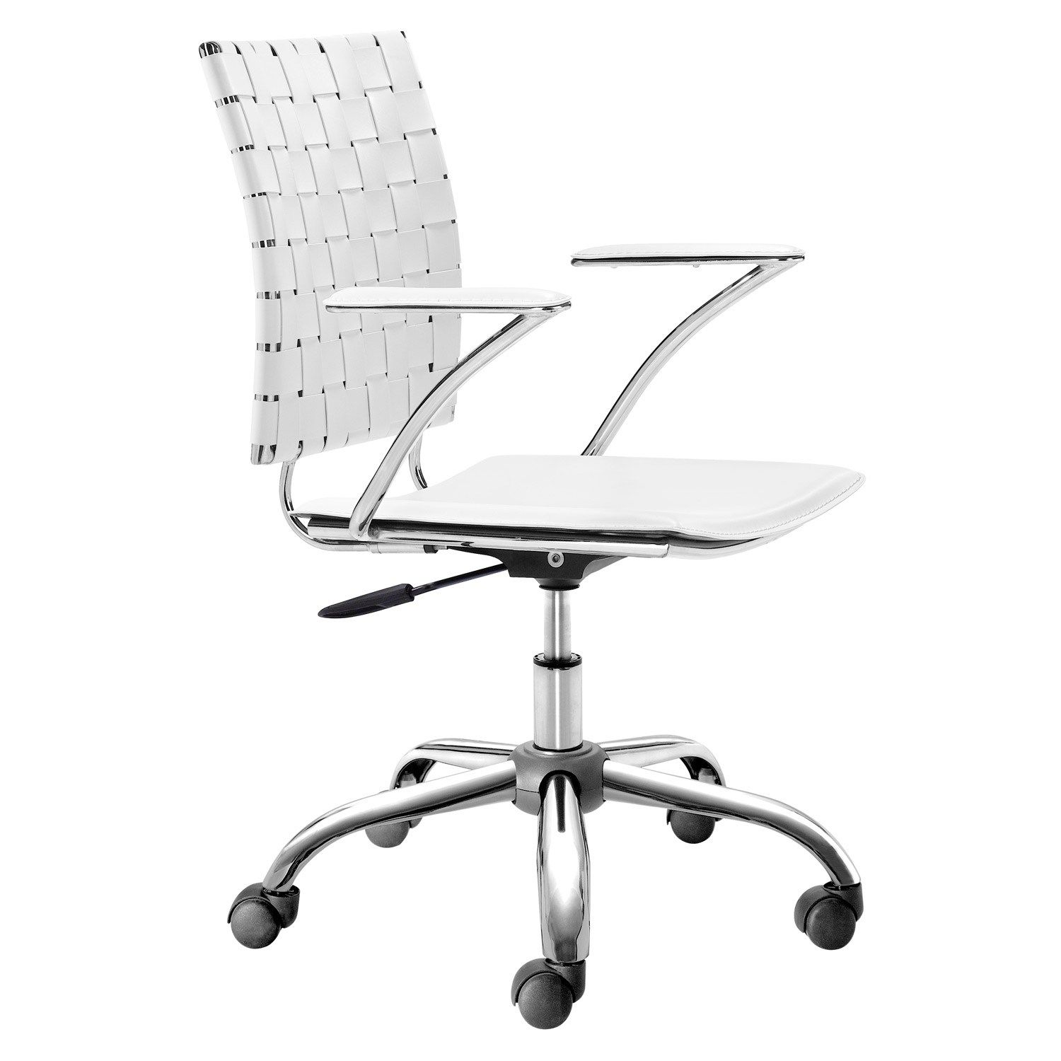 white modern office chair white rolling. Criss Cross White Office Chair Modern Rolling I