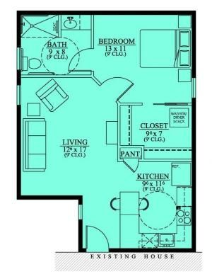 654186 Handicap Accessible Mother In Law Suite House Plans