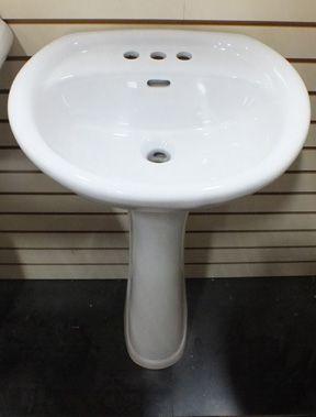Norm S Bargain Barn Pee Pedestal Sink Bowl 20 1 2 Wide X 16 Deep 31 7 8 Tall