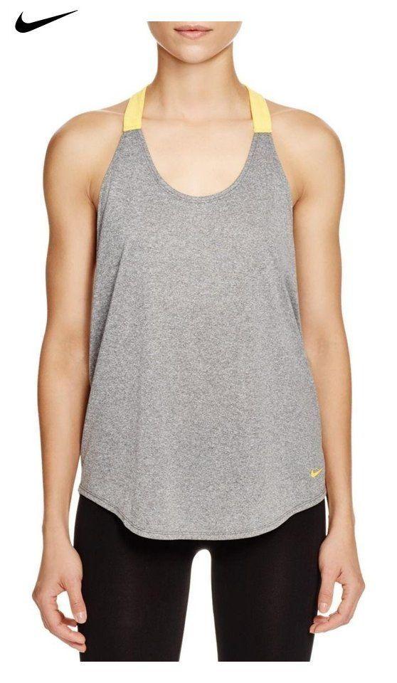 167d087436f22 $23.99 - Nike Womens Elastika Dri-Fit Racerback Tank Top Gray XS ...
