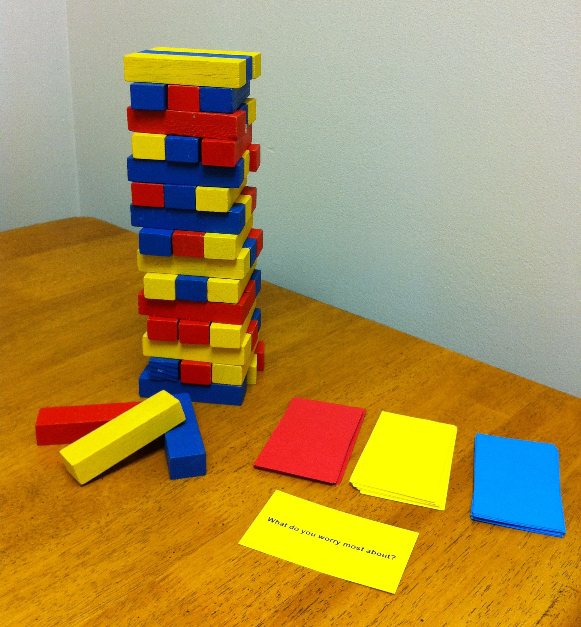 colored coded jenga game situational question cards play colored coded jenga game situational question cards