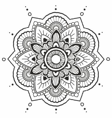 black and whtie colouring pages pdf mandala