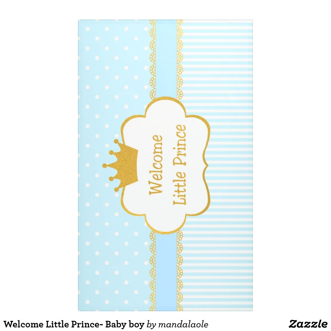Welcome Little Prince Baby Boy Banner Zazzle Com Baby Boy Banner Its A Boy Banner Baby Album