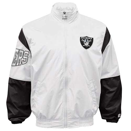 sports shoes 8bd22 1a7e6 Oakland Raiders Starter White Gust Jacket | sports gear ...