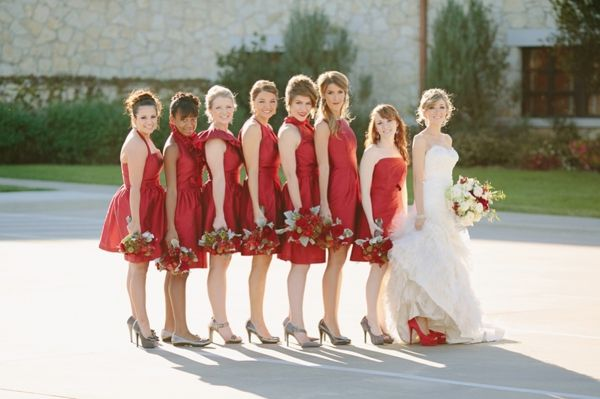 Traditional Red White Gray Wedding Ideas