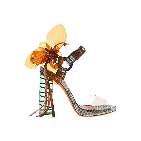 OOOK - Missoni - Women's Accessories 2012 Spring-Summer - LOOK 117 ❤ liked on Polyvore featuring shoes, sandals, missoni, missoni sandals, summer sandals, summer footwear and missoni shoes