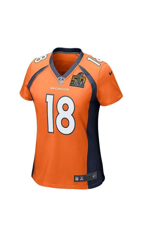 3db97ccf3e4 NFL Women's Denver Broncos Peyton Manning Orange Super Bowl 50 Bound Game  Jersey #blackfriday2016 #ThanksgivingDay