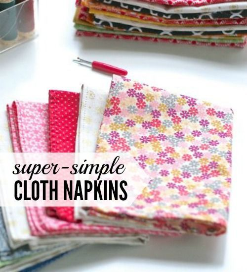 Super-simple DIY cloth napkins #clothnapkins