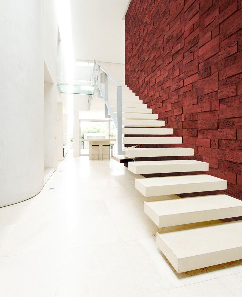 C07 Cork Bricks Picture Gallery Metallic Wall Tiles Staircase Design Stairs Design