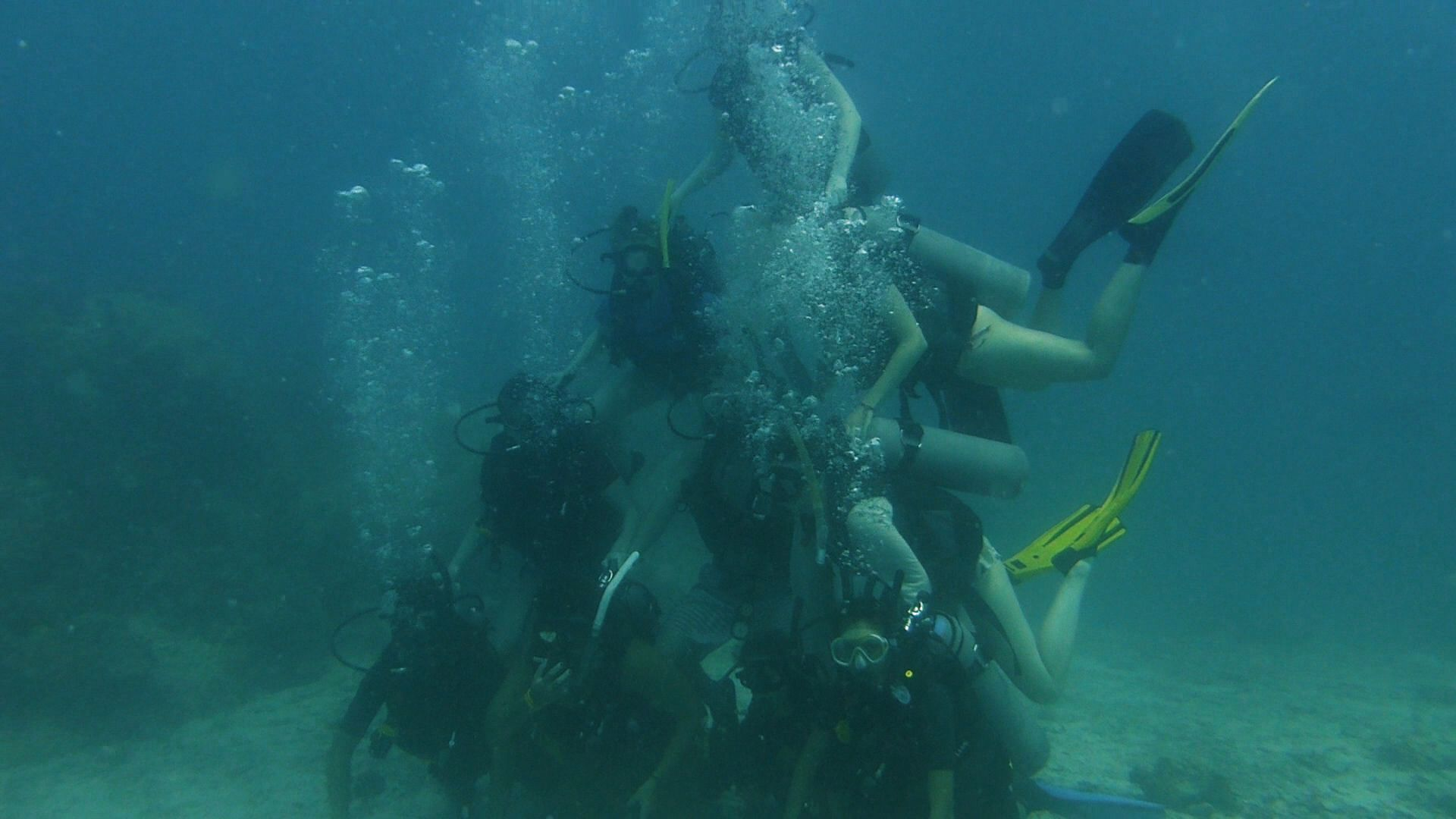 underwater scuba diving fun