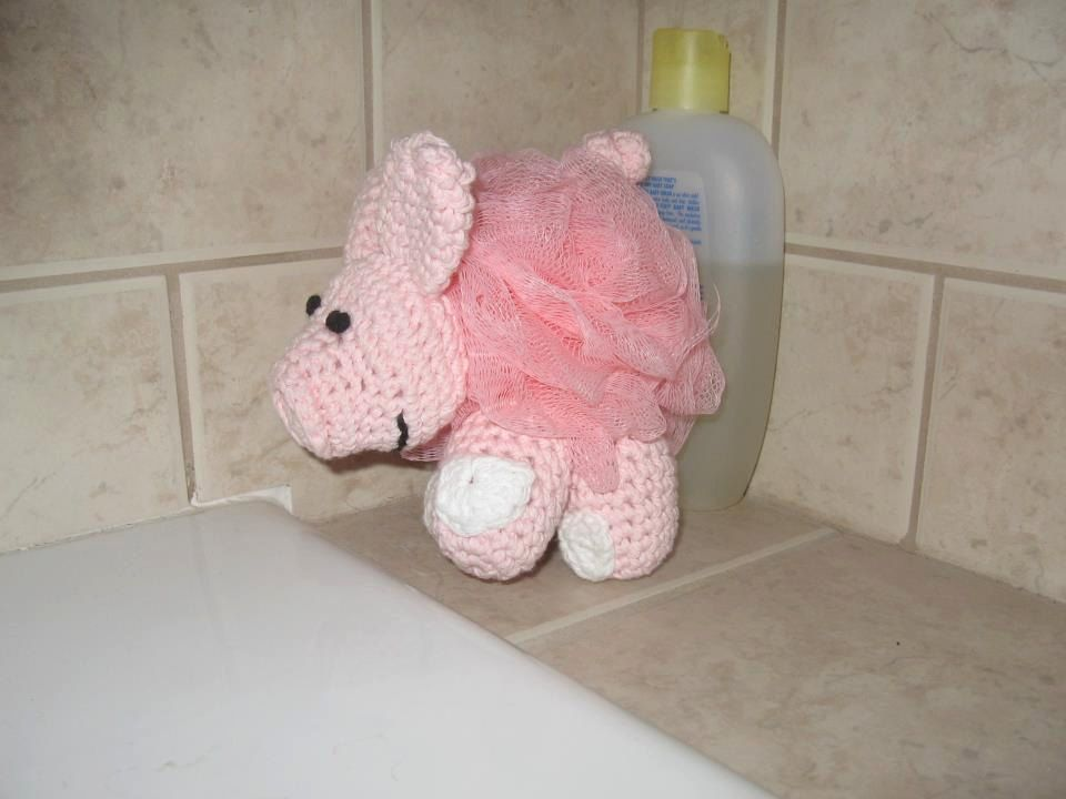 Pig Bath buddy by teciagrover on Etsy, $10.00