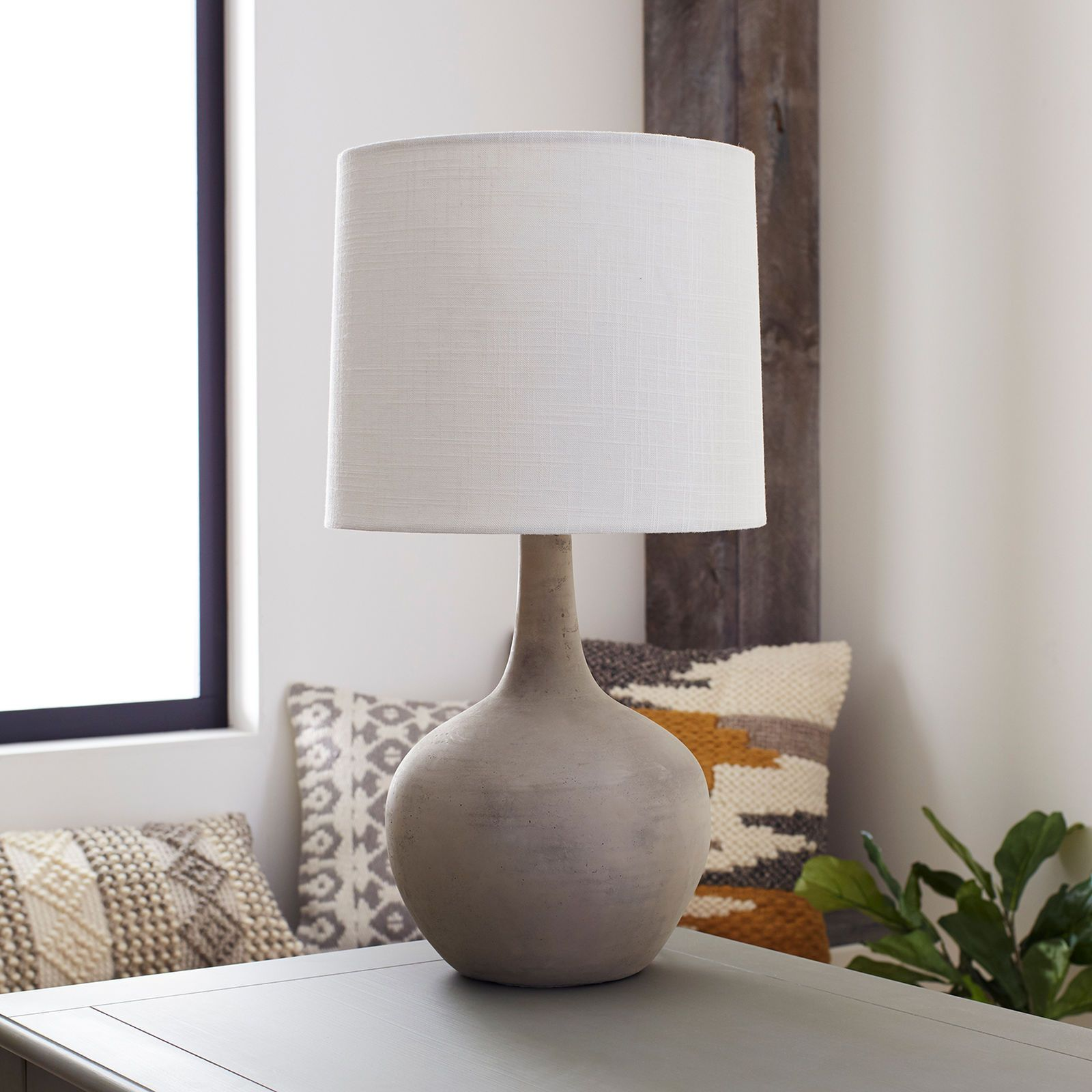 Magnolia Home Ashby Large Cement Table Lamp In 2019 Cement