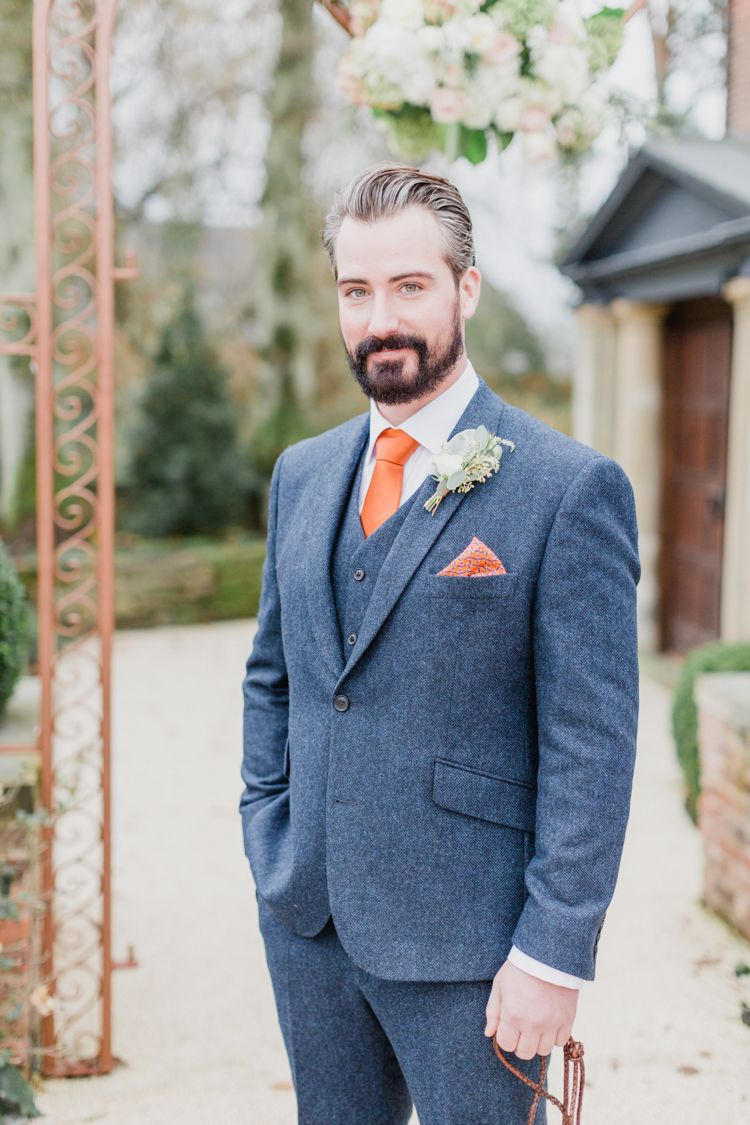 Whimsical Meets Elegant & Classic Wedding | Blue tweed suit, Classic ...